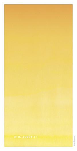 Menu de mariage Aquarelle (4 pages) jaune - Page 4