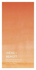 Menu de mariage Aquarelle (4 pages) orange