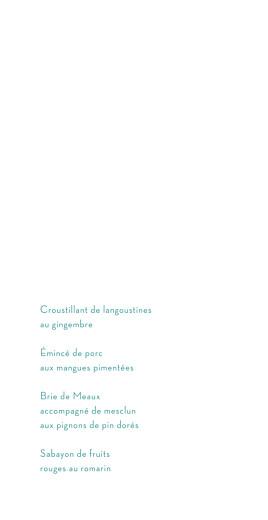Menu de mariage Aquarelle (4 pages) bleu - Page 3