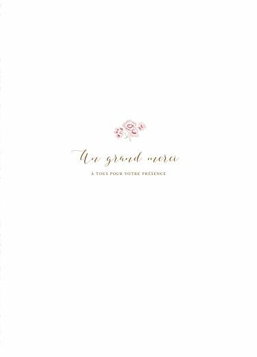 Livret de messe Couronne de roses blanc