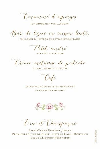 Menu de baptême Couronne de roses blanc - Page 2