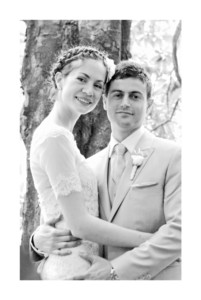 Carte de remerciement mariage Acapulco blanc & vert