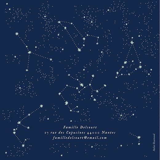 Faire-part de naissance Univers 4 photos bleu nuit - Page 4