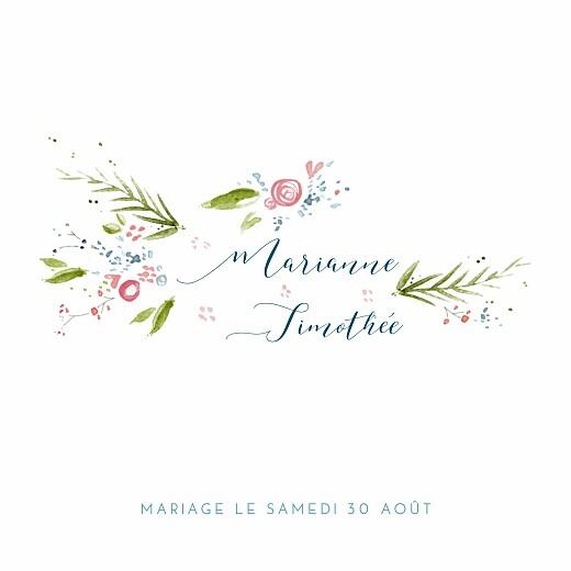 Faire-part de mariage Journée de printemps (4 pages) blanc
