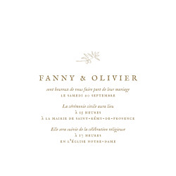 Faire-part de mariage Provence (4 pages) kraft