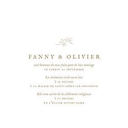 Faire-part de mariage Provence (4 pages) kraft