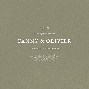 Faire-part de mariage tradition provence (4 pages) olive
