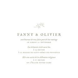 Faire-part de mariage Provence (4 pages) olive