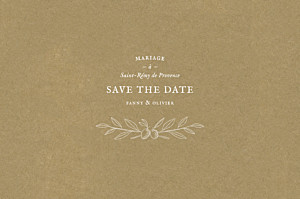 Save the Date Provence kraft