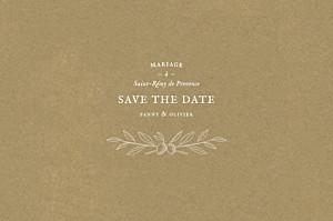 Save the date marron provence kraft