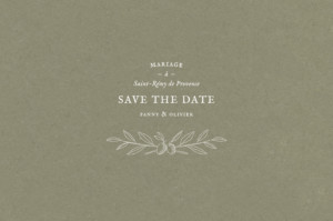 Save the Date Provence olive