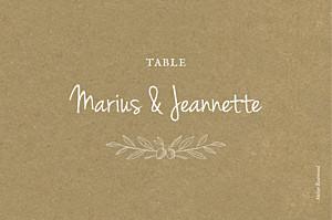 Marque-table mariage marron provence kraft