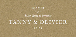 Marque-place mariage Provence kraft