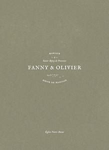 Livret de messe mariage Provence olive