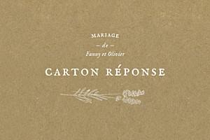 Carton réponse mariage blanc provence kraft