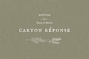 Carton réponse mariage kraft provence olive