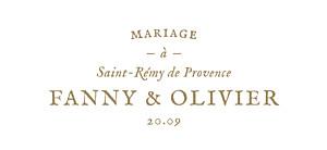 Etiquette de mariage Provence kraft