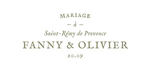Etiquette de mariage Provence olive