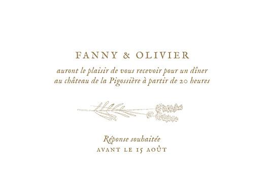 Carton d'invitation mariage Provence kraft - Page 2