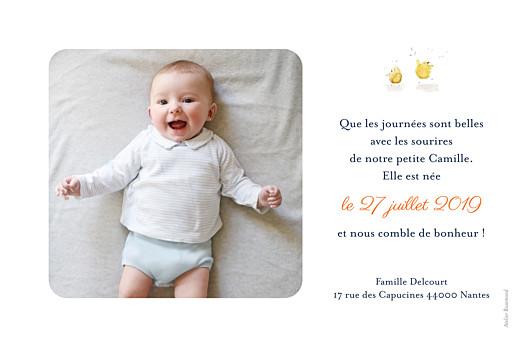 Faire-part de naissance Conte champêtre photo (rv) vert