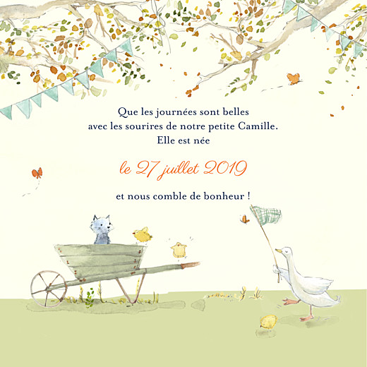 Faire-part de naissance Conte champêtre (4 pages) vert - Page 3