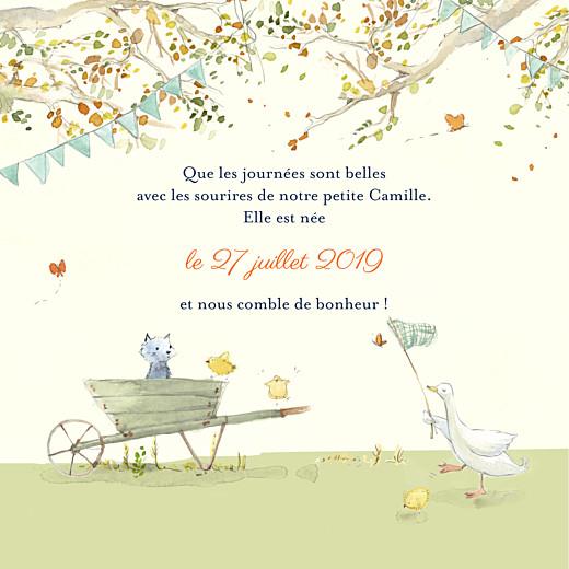 Faire-part de naissance Conte champêtre (4 pages) vert