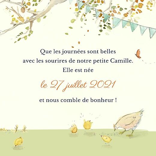 Faire-part de naissance Conte champêtre (triptyque) vert - Page 3