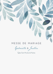 Livret de messe mariage Nuit d'été bleu