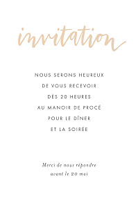Carton d'invitation mariage Lettres d'amour rose