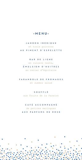 Menu de mariage Confetti (4 pages) bleu - Page 3