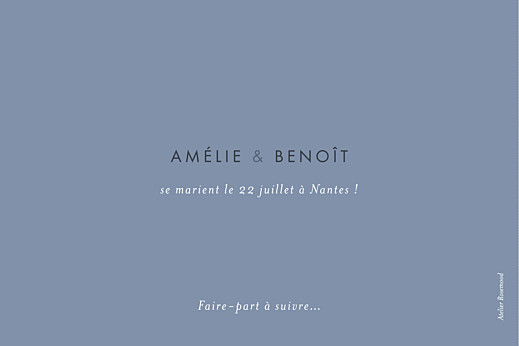 Save the Date Lettres d'amour bleu - Page 2