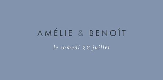 Marque-place mariage Lettres d'amour bleu - Page 4