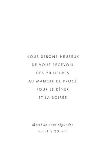 Carton d'invitation mariage Lettres d'amour (dorure) bleu