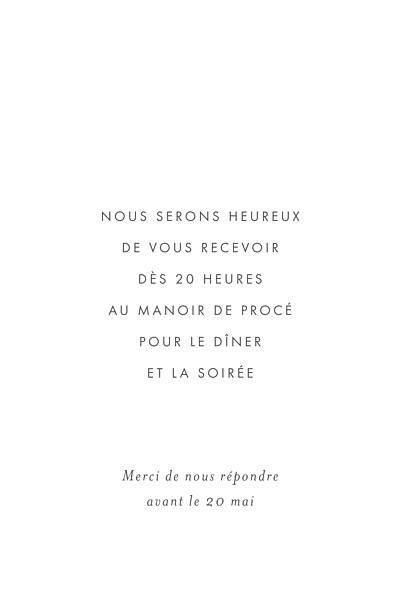 Carton d'invitation mariage Lettres d'amour (dorure) bleu finition