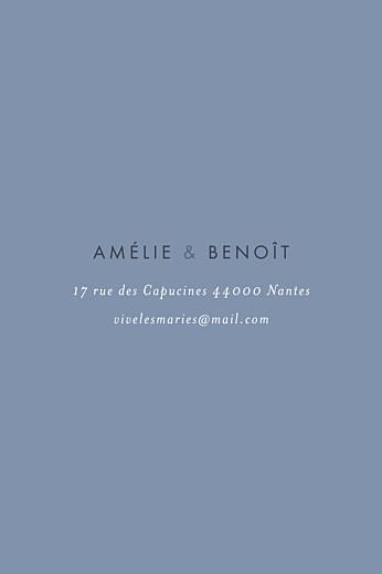 Carton d'invitation mariage Lettres d'amour (dorure) bleu - Page 2