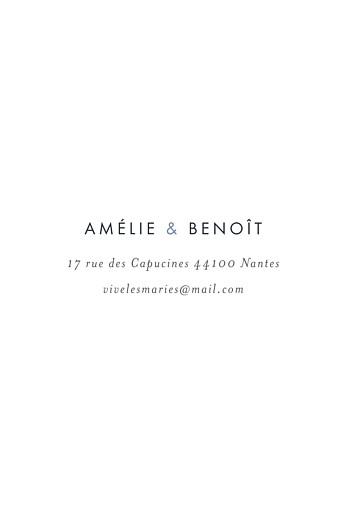 Carton réponse mariage Lettres d'amour (dorure) bleu - Page 2