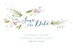 Save the Date Journée de printemps blanc