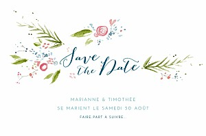Save the date original journée de printemps blanc