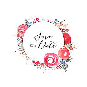 Save the date sans photo romance blanc