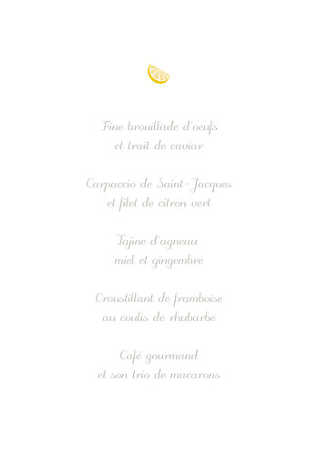 Menu de baptême Citrons jaune - Page 3