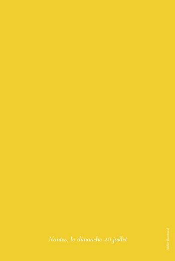 Menu de baptême Citrons jaune