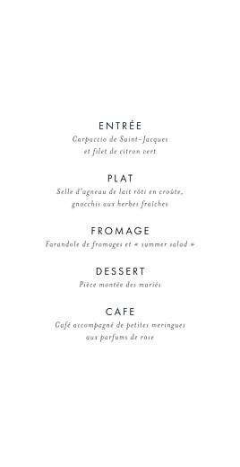Menu de mariage Lettres d'amour (dorure) bleu - Page 3
