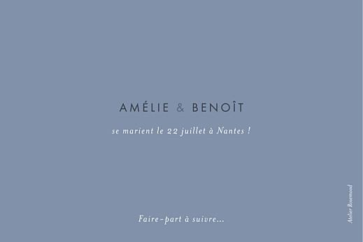 Save the Date Lettres d'amour (dorure) bleu