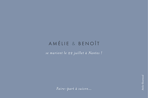 Save the Date Lettres d'amour (dorure) bleu - Page 2