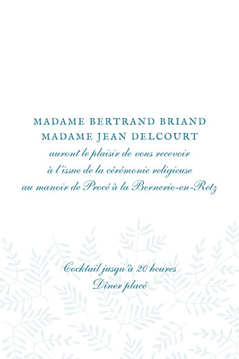 Carton d'invitation mariage Mille fougères (portrait) bleu - Page 2