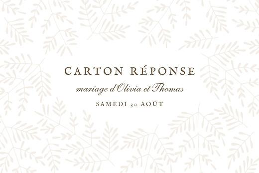 Carton réponse mariage Mille fougères beige