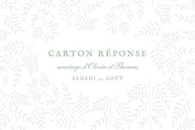 Carton réponse mariage Mille fougères vert finition