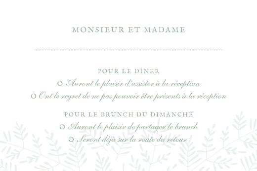 Carton réponse mariage Mille fougères vert - Page 2