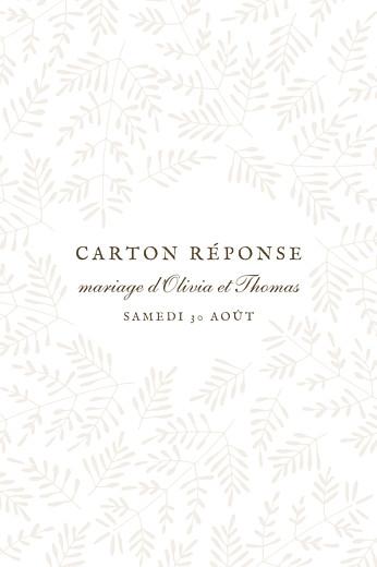 Carton réponse mariage Mille fougères (portrait) beige