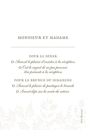 Carton réponse mariage Mille fougères (portrait) beige - Page 2